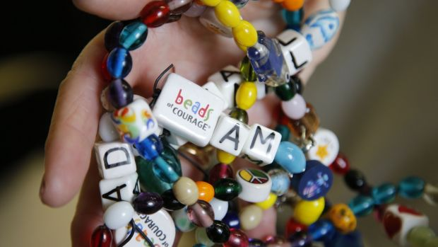 Beads of Courage are given to sick children to symbolically represent significant moments in their treatment. Photograph: Nick Bradshaw
