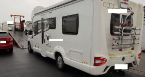 A camper van seized by Cab officers during a search operation on Wednesday