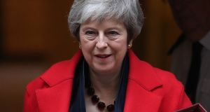 Britain's Prime Minister Theresa  May's Brexit plan will make people worse off than remaining in the EU by £1,100, the government's own assessment of the agreement concluded on Wednesday.  Photograph:   Daniel Leal-Olivas/AFP