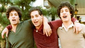 The Three Identical Strangers: Eddy Galland, David Kellman and Robert Shafran. Photograph courtesy of Neon