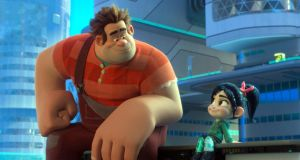 Leading pair: Ralph, voiced by John C Goodman, and Vanellope, voiced by Sarah Silverman