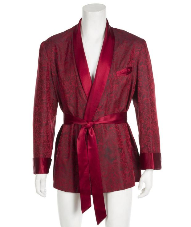 Playboy auction: Hugh Hefner's crimson red smoking jacket has a guide price of $5,000, or about €4,450