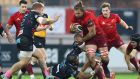 Munster's Arno Botha drives forward against Zebre last week. Photograph: Matteo Ciambelli /Inpho