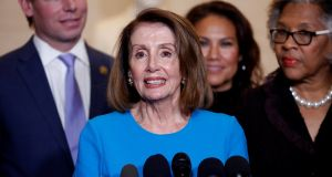 Nancy Pelosi is hoping to repeat history by becoming the only female speaker of the US House of Representatives for the second time.  Photograph: Joshua Roberts/Reuters