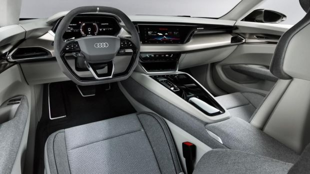 The GT's interior looks pretty much production-ready, and is basically a variation on the twin-screen, digital instrument layout already seen in the A6, A7, and A8