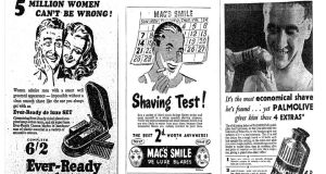 'Noble outline of a manly chin': A history of shaving in 'Irish Times' ads