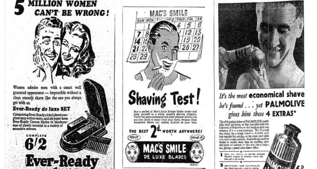 Ads for razors, gift sets and shaving creams have been published in 'The Irish Times' since the very first issues