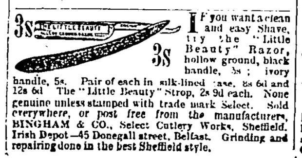 If you want a clean and easy shave, try the Little Beauty Razor (January 9th, 1897)
