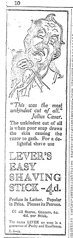 This was the most unkindest cut of all (May 36th, 1911)