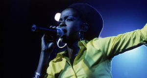 Lauryn Hill performing at Brixton Academy, London, in February 1999. Photograph: Chris Lopez/Sony Music Archive/Getty Images