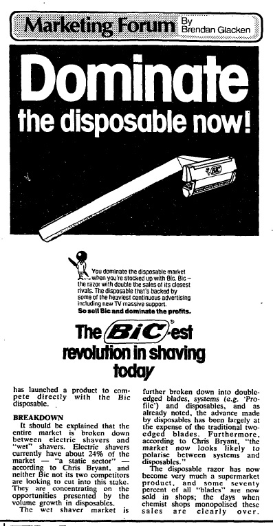 Dominate the disposable now! (September 29th, 1981)
