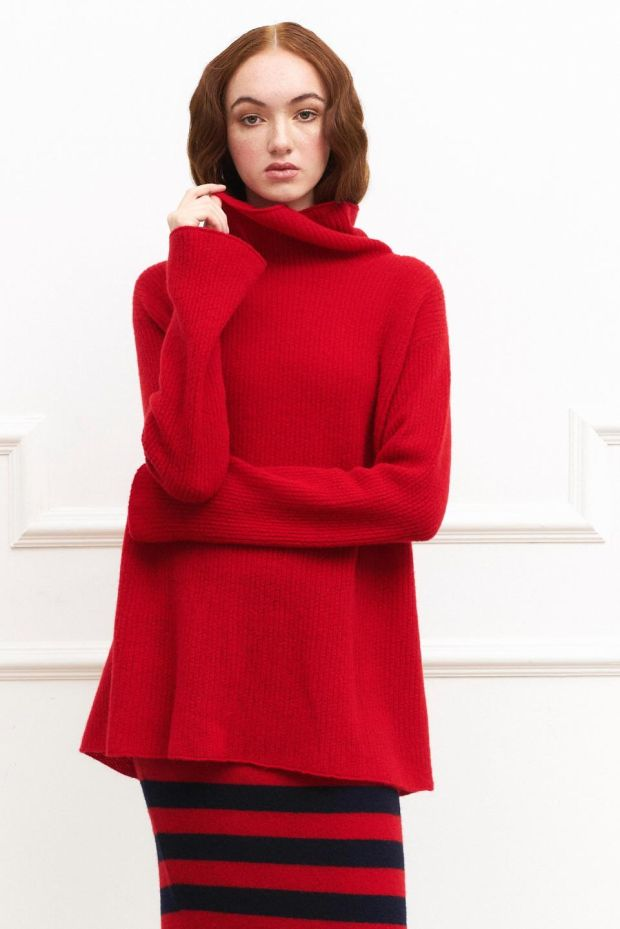 Ruby red sweater 495 by Laura Chambers at Bloss, Dundrum and laura-chambers.com