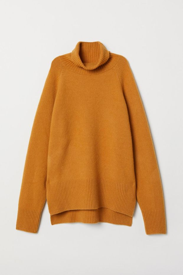 Wool blend polo neck jumper 59.99 from H