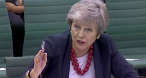 Theresa May speaking at the  Parliamentary Liaison Committee on Thursday