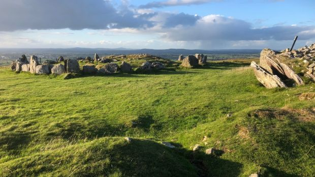 Steps, flagstones and posts guide the visitor to the pleasant, grassy summit where inevitably we are prompted to think about those ancestors of ours, for whom this was a special place