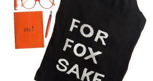 For Fox Sake jumper (€79.95) by Violet and Emma Lumsden is part of the new knitwear collection available in Avoca
