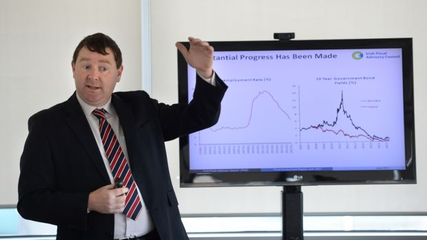 "Irish Fiscal Advisory Council chairman Seamus Coffey: he said there were ""worrying echoes"" of the 2000s in the Government's latest budgets. Photograph: Dara Mac Dónaill"