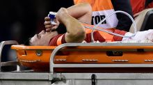 Wales flanker Ellis Jenkins could miss the rest of the season after suffering a serious knee injury in the 20-11 win over South Africa. Photograph: Rebecca Naden/Reuters
