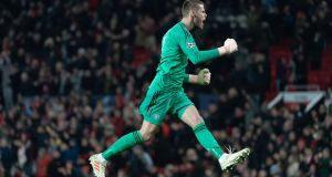Manchester United have triggered a one-year extension on David de Gea's contract. Photograph: Georgios Kefalas/EPA