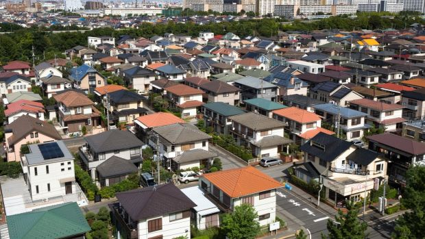 Residential area near Tokyo: by 2033, nearly a third of all homes in Japan could be abandoned. Photograph: iStock