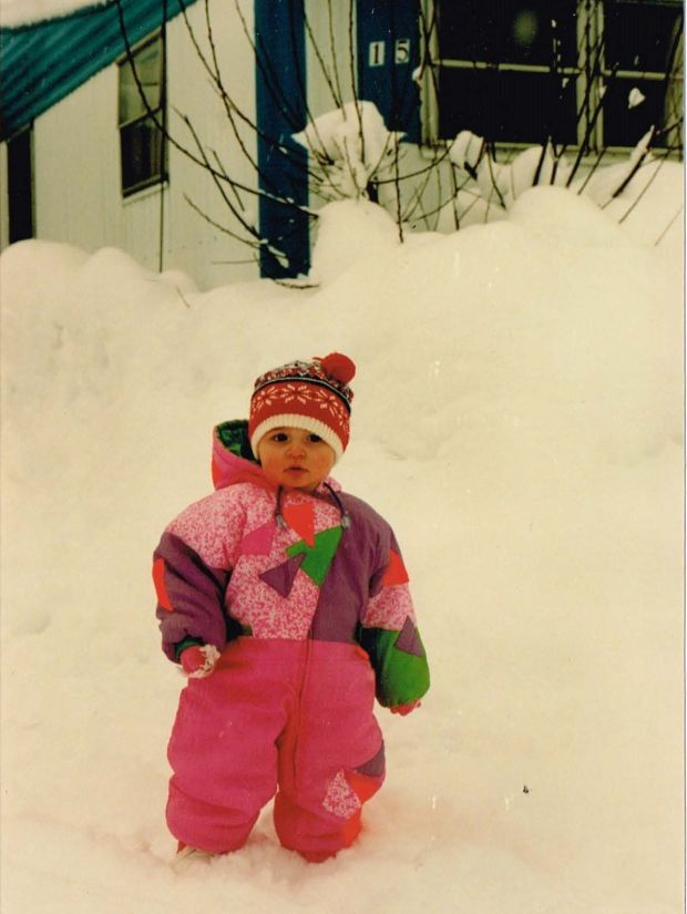 Siobhan Peters as a baby in Anchorage, 1993.