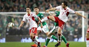 Ireland made it to the World Cup playoffs but lost 5-1 in the second leg to Denmark at the Aviva Stadium