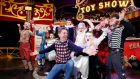 Late Late Toy Show presenter Ryan Tubridy with Alanna Willoughby (bearded lady), 12,  from Carlow;  Luke O'Connor (Napoleon), 7, from Dublin; Matthew Little (fat man),  12, from Ardee; Kayla McMahon (three-legged man), 10, from Balrothery; Colm Sullivan (wolf man), 8, from Navan;  Dylan O Connor (tattoo man), 11, from Dublin; Enya Allen (Pierrot clown), 5, from Navan; and Ella Maher (albino),  10, from Carlow. Photograph: Nick Bradshaw