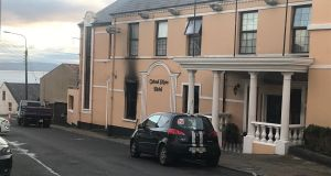 Donnacha Ó Laoghaire of Sinn Féin condemned the arson attack in Moville at the weekend on a hotel that was intended to provide accommodation for up to 100 asylum seekers. Photograph: Aoife Moore/PA Wire
