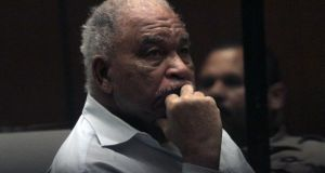 Samuel Little, who was convicted on charges that he murdered three women in Los Angeles in the 1980s, listens to opening statements as his trial begins on August 18, 2014 Photograph: Bob Chamberlin/Los Angeles Times/Getty