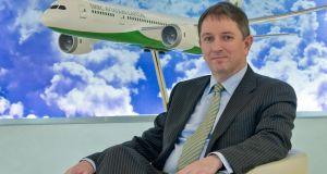 Peter Barrett, chief executive of SMBC Aviation Capital at their office in IFSC House Dublin.Photograph: Brenda Fitzsimons