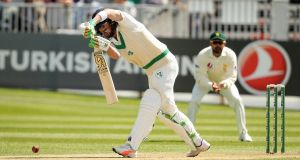 Andrew Balbirnie bats during Ireland's maiden Test match against India in May 2018. Photograph: Oisin Keniry/Inpho