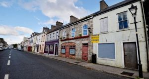 Premises for sale in Kiltimagh, Co. Mayo. File photograph: Alan Betson