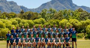 Connacht pictured at their final training session in Cape Town. Photograph: James Crombie/Inpho