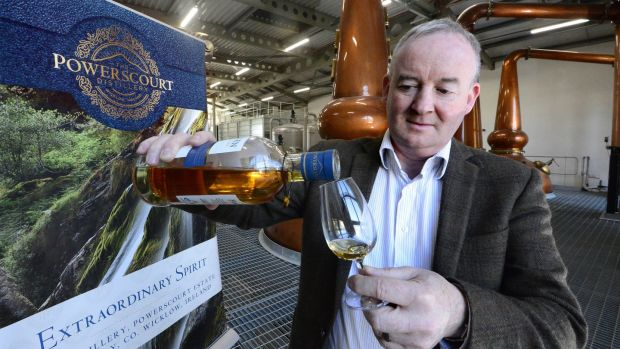 Noel Sweeney, master distiller, with a bottle of Fercullen whiskey. Photograph: Cyril Byrne
