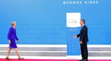 Britain's prime minister Theresa May is welcomed by Argentina's president Mauricio Macri as she arrives for the G20 leaders summit in Buenos Aires:  Brexit debate is still based on a lack of reality about what might be available. Photograph: Marcos Brindicci