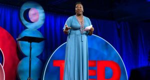 Tarana Burke: The Me Too founder at the TEDWomen conference in Palm Springs. Photograph: Marla Aufmuth/Ted