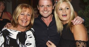 At Jonathan Wilkes 26th birthday party, August, 2004: Wilkes's mother, Declan Donnelly and Kerry McFadden.  Photograph:  ShowBizIreland/Getty Images