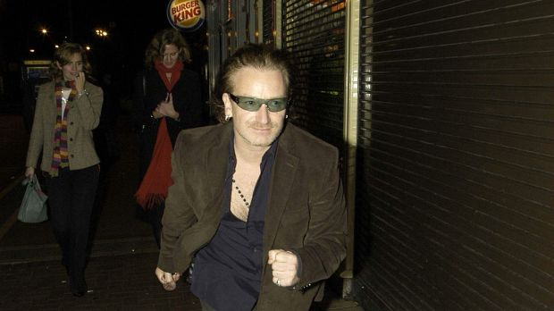 Bono has a run-in, October, 2003. Photograph: ShowBizIreland/Getty Images