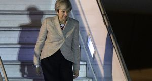 On the way down? A day of reckoning is fast approaching for Theresa May. Photograph: Juan Mabromata/AFP/Getty Images