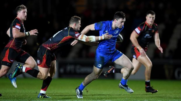 Leinster's Conor O'Brien makes a break. Photograph: Alex Davidson/Inpho