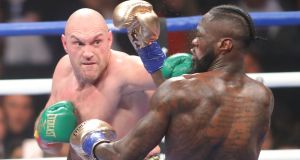 Tyson Fury and Deontay Wilder look set for a rematch after their draw in LA. Photograph: Tom Hogan/Inpho