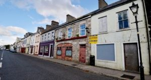 Premises for sale in Kiltimagh, Co Mayo. File photograph: Alan Betson