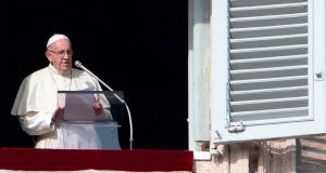 Pope Francis said it seems as if homosexuality was fashionable. Photograph: Getty Images
