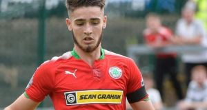 Jay Donnelly (above), who has continued to play for  Irish Premiership side Cliftonville Football Club since  allegations relating to a date in 2016 emerged, played a game for the north Belfast club on November 24th against Linfield. File photograph: Inpho