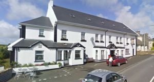 A man fell from an upstairs window of Teach Hiúdaí Beag in Bunbeg, Gweedore, Co Donegal, which has B&B rooms upstairs. File photograph: Google Street View