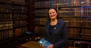 Anne Chambers  at the  launch in the Royal Irish Academy in Dublin of the 40th anniversary editionof Grace O'Malley: The Biography of Ireland's Pirate Queen, 1530-1603. Photograph: James Forde