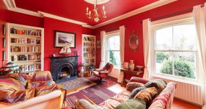Upstairs drawingroom at number 45 Donore Avenue, Dublin 8