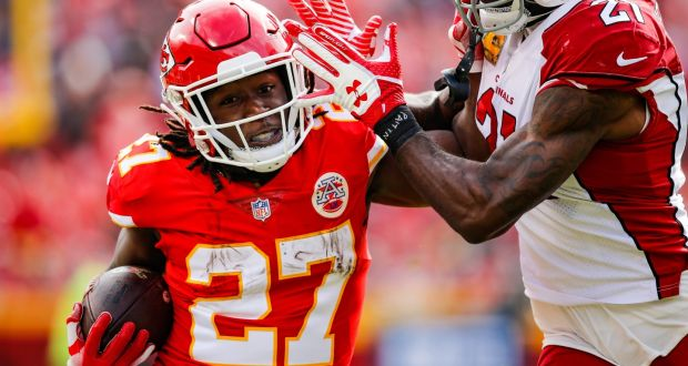b459fe5ac94 Kareem Hunt has been placed on the placed on the Commissioner's Exemptions  List. Photograph: