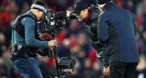 Jurgen Klopp has been charged by the English FA for his actions during Liverpool's late win over Everton. Photograph: Clive Brunskill/Getty