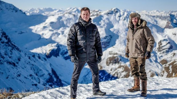 George Clarke and Will Hardie in Amazing Spaces Winter Wonderland